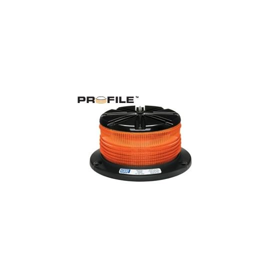 High Intensity Compact 3-Bolt Profile Amber Beacon Strobe Warning Light, Pulse 8 Flash | ECCO 7460A
