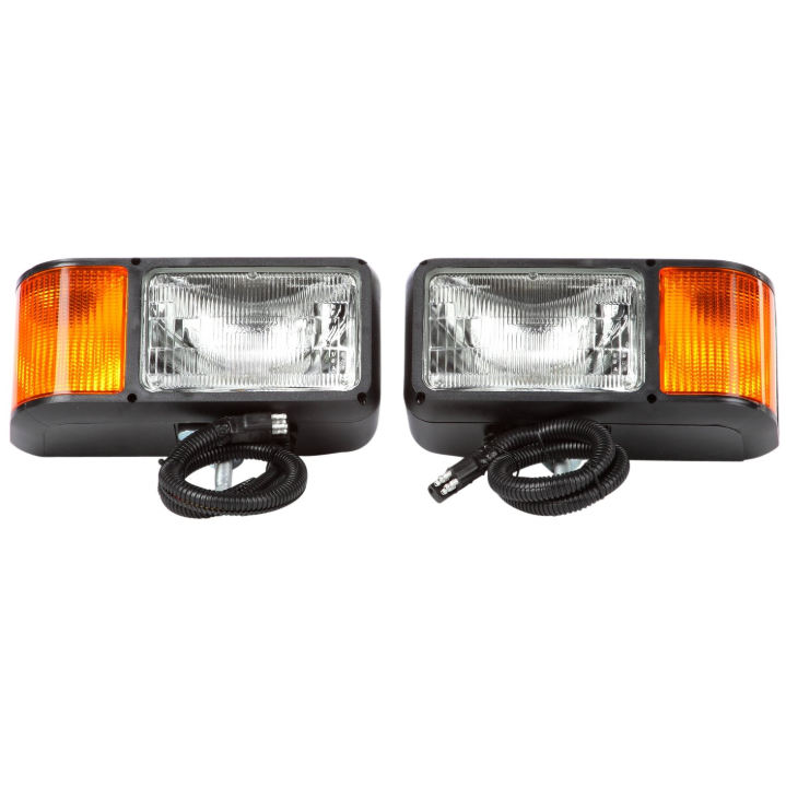 "Economy Halogen 4"" X 6"" Red Rectangular Snow Plow Light, Hardwired & 1 Stud Mount 