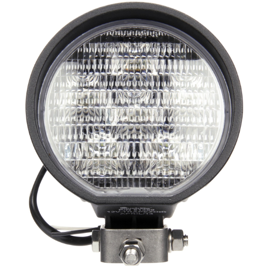 "81 Series Clear LED 4"" Round Work Light, Hardwired/Stripped End & Stud Mount 