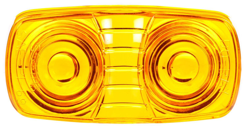 "Signal-Stat Yellow 2""x4"" Oval Snap-Fit Replacement Lens for 99053 Series Marker Clearance Lights 