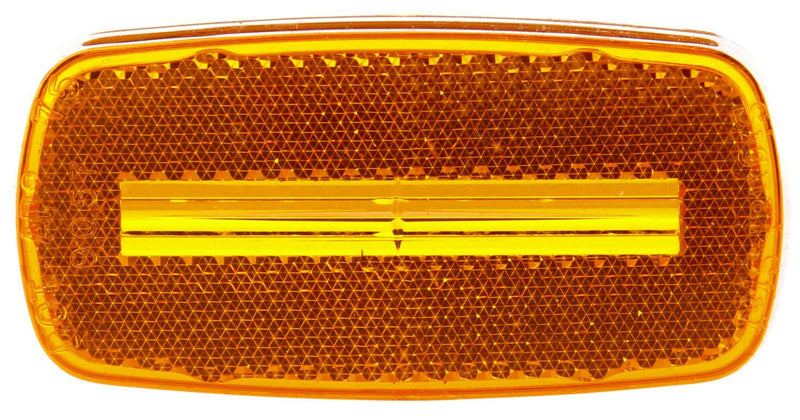 "Signal-Stat Yellow 2""x4"" Replacement Lens for Marker Clearance Light, Snap-Fit 