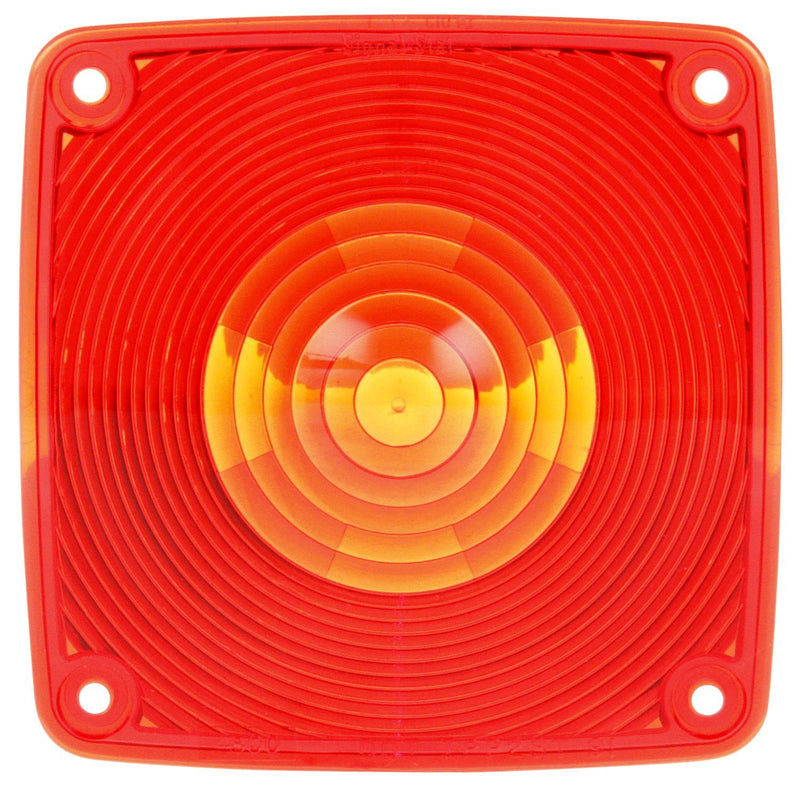 "Signal-Stat 4.5"" Square Red Replacement Lens for Pedestal Lights 