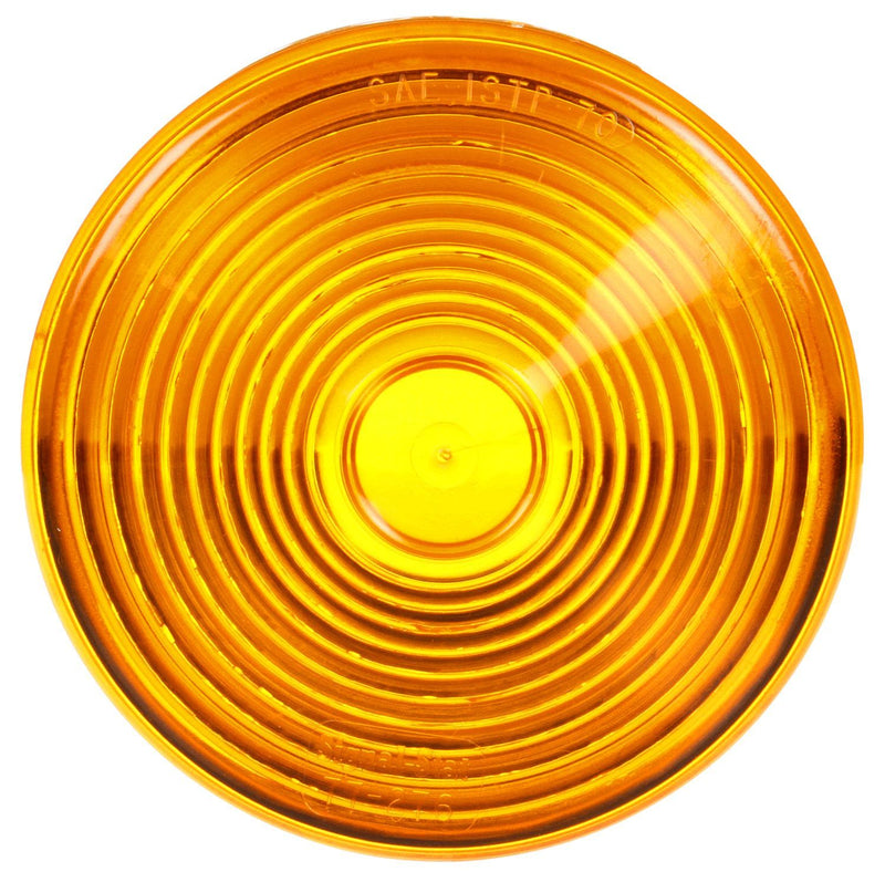 "Signal-Stat Yellow 4"" Round Replacement Lens for Pedestal Lights 