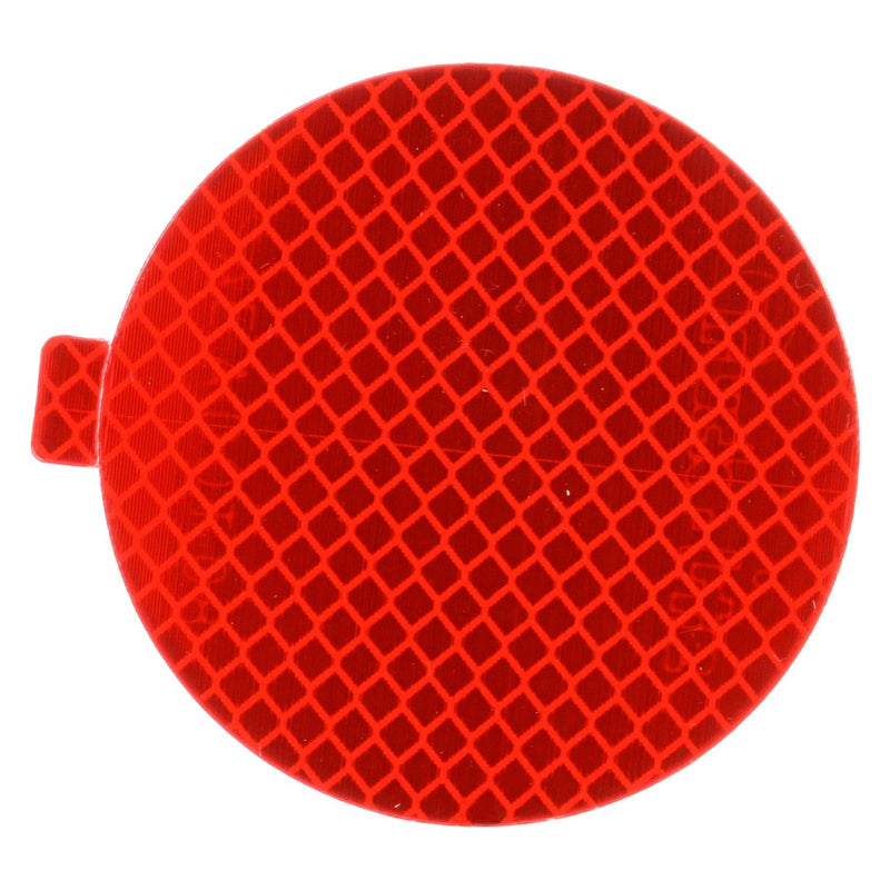 "Red 3"" Round Retro-Reflective Tape, Tape & Adhesive Mount 