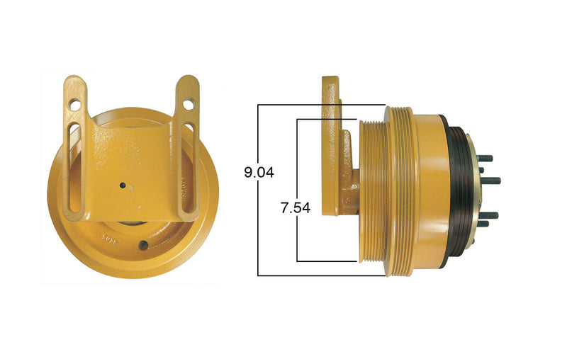 Fan Clutch Assembly for Caterpillar C15 Acert & C16 Acert, Remanfuactured | Kit Masters 99360