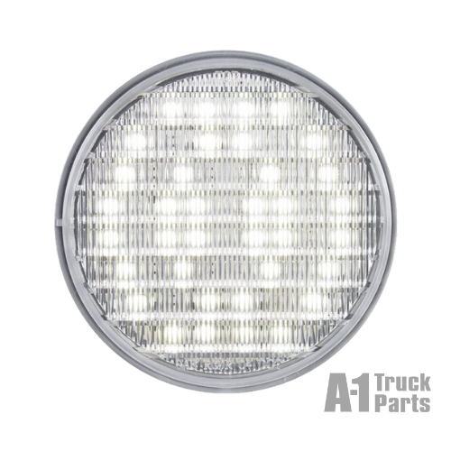 "4"" Round 36-LED Clear Back Up Light with Recess Grommet Mount, 12V 
