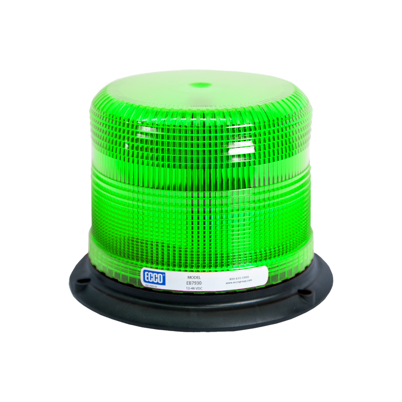 "Severe Vibration Green LED Beacon with Pulse8 Flash Patterns, 3 Bolt/1"" Pipe Mount 