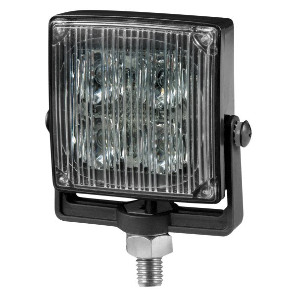 "4"" Square Amber 4-LED Directional Warning Light, 18 Flash Pattern 