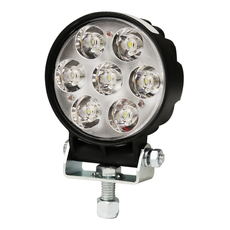 7-LED Round Flood Beam Light with Standard Connection, 1 Bolt Mount | ECCO EW2110
