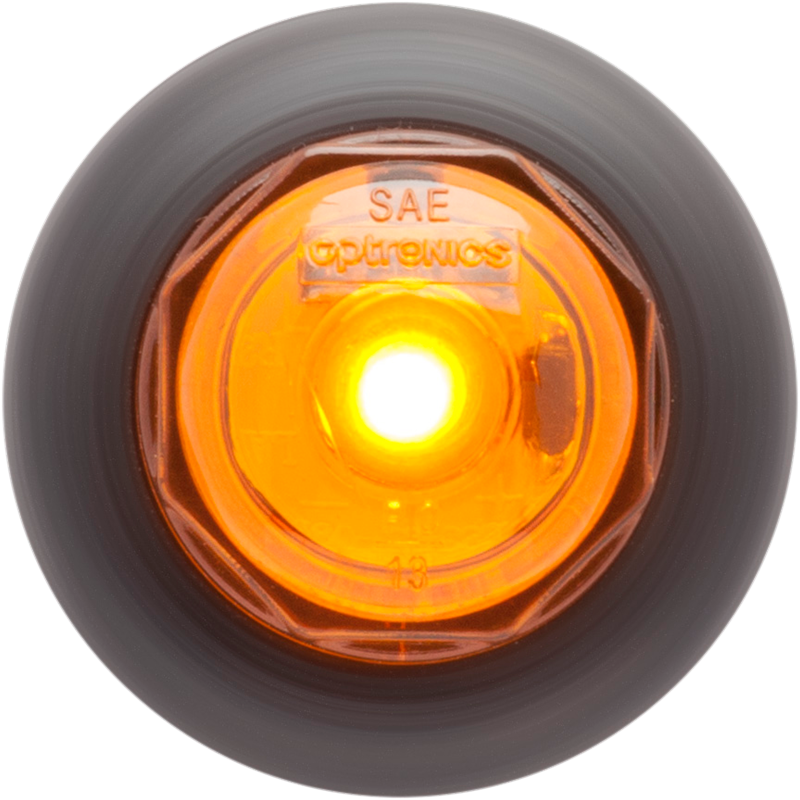 "1 LED Yellow .75"" Non-Directional Marker/Clearance Light with A11GB Grommet Mount, 12V 