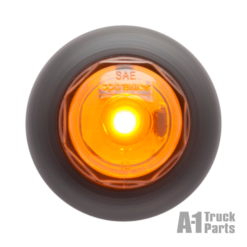 "2 LED Yellow .75"" Marker/Clearance Light with Grommet, 12V 