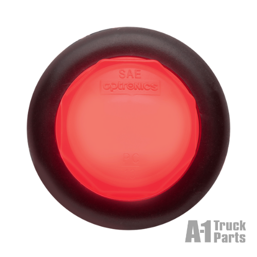 "2 LED Red .75"" Marker/Clearance Light with Grommet, 12V 