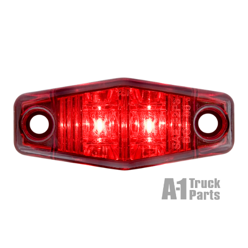 2 LED Red Marker/Clearance Light with Surface Mount, 12V | Optronics MCL13R2B