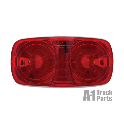 10 LED Oblong Red Marker/Clearance Light, 12V | Optronics MCL46RB