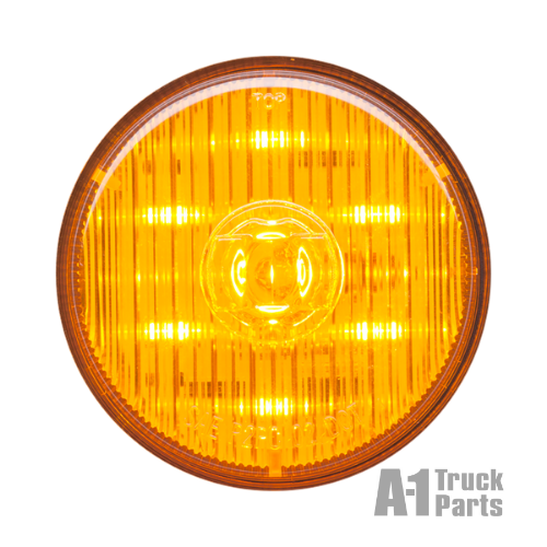 "7-LED 2.5"" Round Yellow Marker/Clearance Light, PL-10 Connection for Grommet Mount 