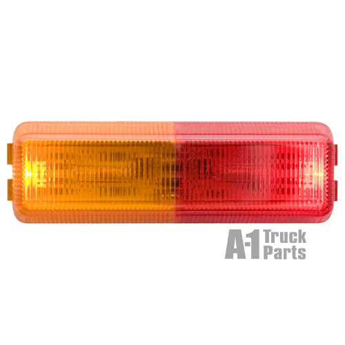 2-LED Snap-In Dual Red/Yellow Fender Marker Clearance Light, Male Pin | Optronics MCL61ARB