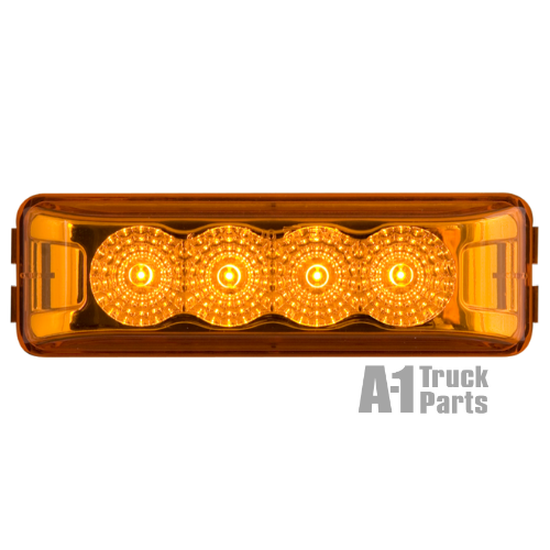 4-LED Snap-In Thinline Yellow Marker/Clearance Light, Male Pin | Optronics MCL63ABP