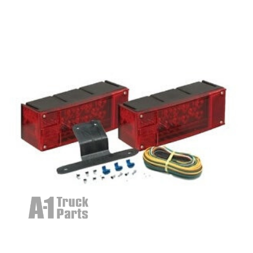 Red LED Rectangular Tail Light Combination Kit, Hard Wired Connection for Stud Mount | Optronics TLL16RK