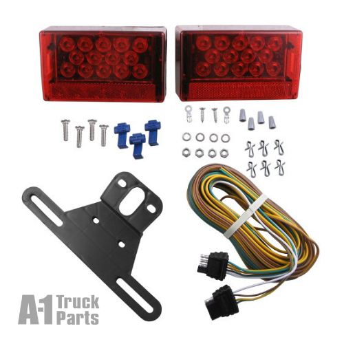 Red LED Tail Light Combination Kit, Hard Wired Connection for Stud Mount | Optronics TLL56RK