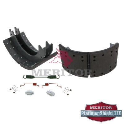Lined Brake Shoe Kit with Hardware | Remanufactured | Meritor XK3124709E2