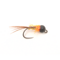 French Dip - Hot Orange - Black Bead