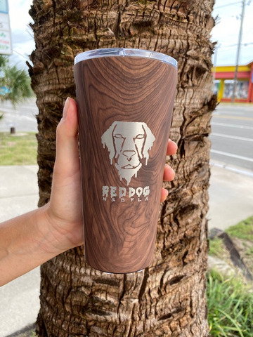 melty Dog 16OZ Tumbler | Woodgrain