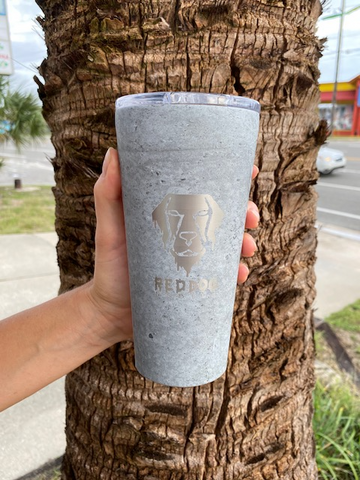 Melty Dog 16OZ Tumbler | Cement