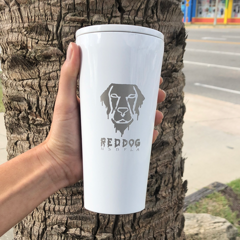 Melty Dog 16OZ Tumbler | White