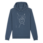 Load image into Gallery viewer, Zea Unisex Hoodie side