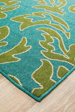 Load image into Gallery viewer, Alfresco Indoor Outdoor Collection 6504 Blue Green Rug
