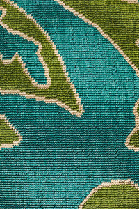 Alfresco Indoor Outdoor Collection 6504 Blue Green Rug