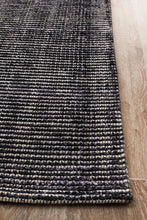 Load image into Gallery viewer, Allure Black Cotton Rayon Rug