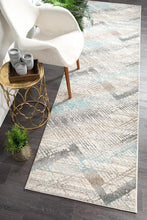 Load image into Gallery viewer, Aspect Riverside Jagged Blue Runner Rug