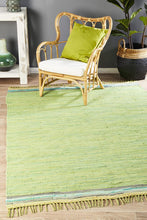 Load image into Gallery viewer, Atrium Boho Whimsical Rug Green
