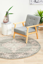 Load image into Gallery viewer, Avenue 703 Grey Round Rug