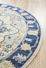 Load image into Gallery viewer, Babylon 201 Navy Round Rug