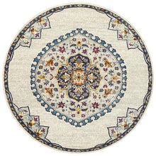 Load image into Gallery viewer, Babylon 202 White Round Rug