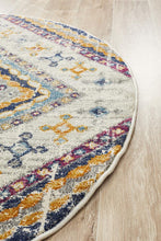 Load image into Gallery viewer, Babylon 203 White  Round Rug