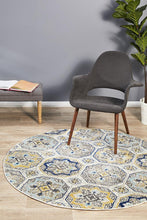 Load image into Gallery viewer, Babylon 204 Blue  Round Rug