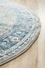 Load image into Gallery viewer, Babylon 207 Blue  Round Rug