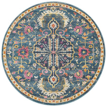 Load image into Gallery viewer, Babylon 209 Navy  Round Rug
