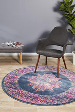 Load image into Gallery viewer, Babylon 211 Navy  Round Rug
