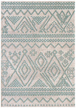 Load image into Gallery viewer, Capri Lara Natural And Soft Blue Rug