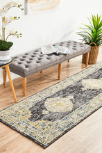 Load image into Gallery viewer, Century 955 Charcoal Runner Rug