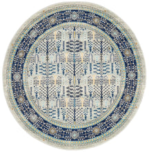 Load image into Gallery viewer, Century 988 Blue Round Rug