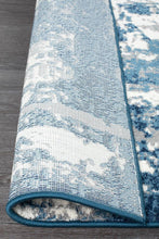 Load image into Gallery viewer, Chelsea Connie Modern Rug Blue Cream