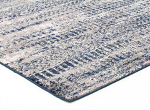 Load image into Gallery viewer, Chelsea Doris Modern Runner Rug Blue Cream