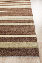 Load image into Gallery viewer, City Stylish Stripe Rug Brown Beige