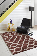Load image into Gallery viewer, City Trellis Stylish Design Rug Brown