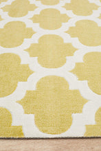 Load image into Gallery viewer, City Trellis Stylish Design Rug Green